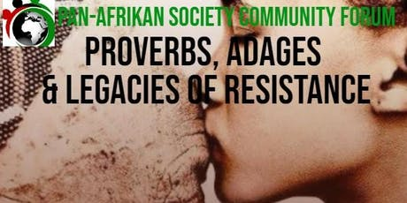 Proverbs, Adages and Legacies of Resistance tickets