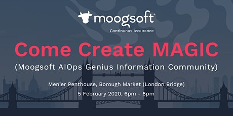 MAGIC London (Moogsoft users technical community) Meet Up tickets