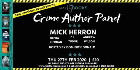 Crime Author Panel tickets