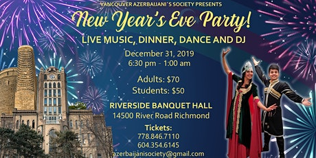Vancouver Azerbaijani Society's New Year's Eve tickets