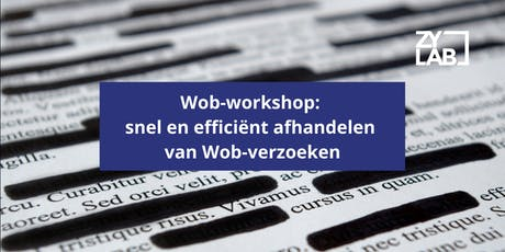 Wob-workshop - 30 Jan 2020 tickets