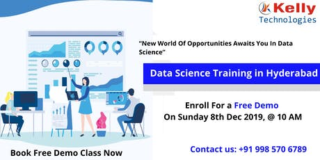 Get Enrolled For The Free Interactive Data Science Demo On Sunday 8th Dec tickets