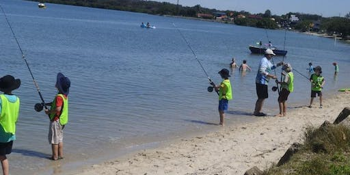 School Holiday Fishing Lesson Thompsons Beach Victoria Point