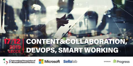 """CONTENT&COLLABORATION,DEVOPS, SMART WORKING"" biglietti"