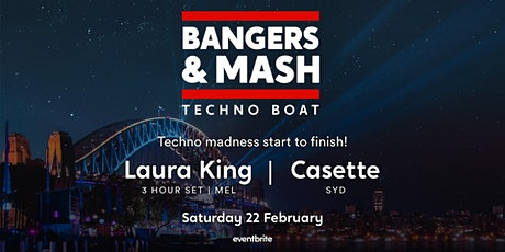 Bangers and Mash Techno Boat tickets