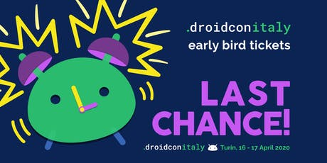 droidcon Italy 2020 -  Europe's Largest Android Conference biglietti
