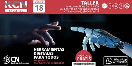 """Taller """"Herramientas Digitales para Todos"""" entradas"""