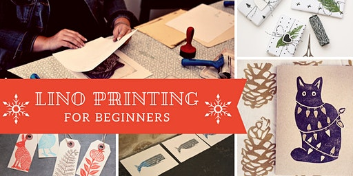 Lino Printing for Beginners  Christmas Special - Glasgow Craft Workshop