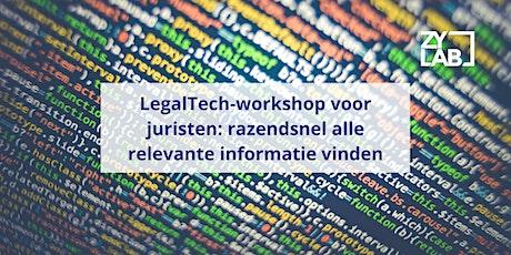 LegalTech-workshop voor bedrijven - 7 februari 2020 tickets