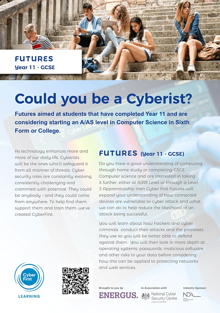 CyberFirst Futures Year 11 - GCSE image