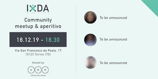 IxDA Milan & Turin - Community meetup & aperitivo