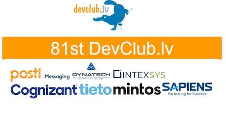 FinTech focused 81st Devclub.lv tickets