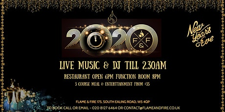 New Years Eve at Flame & Fire tickets