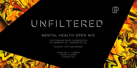 Unfiltered - Mental health open mic tickets