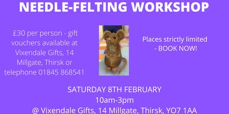 Needle-Felted Animal Workshop tickets