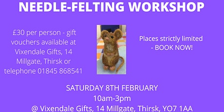 Needle-Felted Animal Workshop tickets