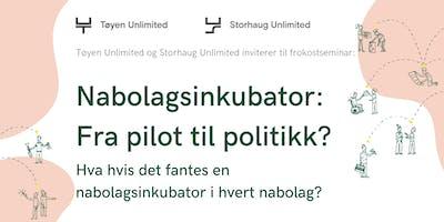 Nabolagsinkubator: Fra pilot til politikk?