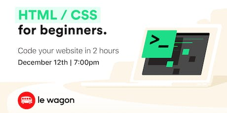 Build a landing page in 2 hours with CSS and HTML tickets