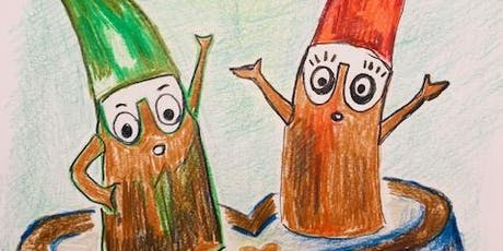 Painting Cheeky Tree Elves with @learn2draw tickets