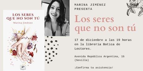 Presentación 'Los seres que no son tú' (Marina Jiménez) entradas