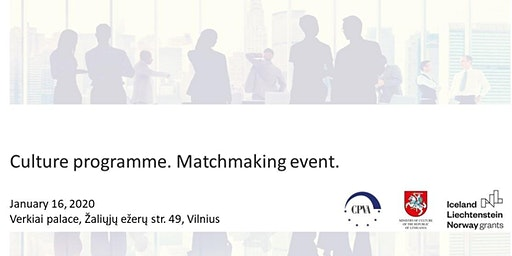 Matchmaking event. Culture programme.