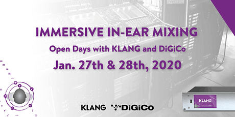 Open House Days With KLANG and DiGiCo tickets