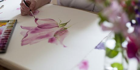 Glasgow Botanic Gardens - Watercolour Workshop - loose style painting, seasonal flowers & foliage tickets