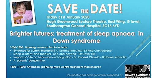 Brighter futures: treatment of sleep apnoea  in Down syndrome