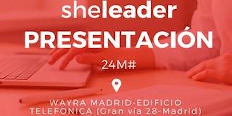 Presentación Sheleader con Maria Manzano entradas