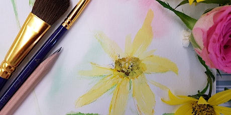 Textured Summer Blooms In Watercolour Paint (Adult Course) tickets