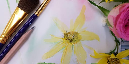 Textured Summer Blooms In Watercolour Paint (Adult Course)