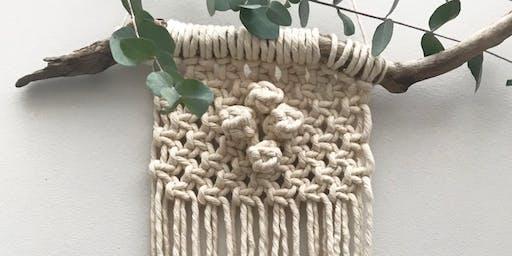Macrame Mini Wall Hanging @Alresford Linen