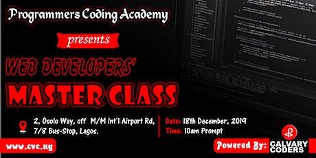 Web developers' master class tickets