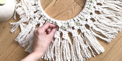 Macrame Easter Wreath @Alresford Linen