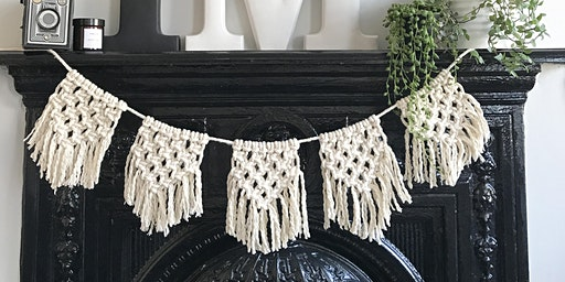 Macrame bunting workshop @Alresford Linen