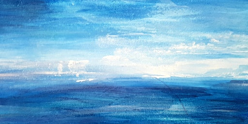 Seascape In Acrylic Paint