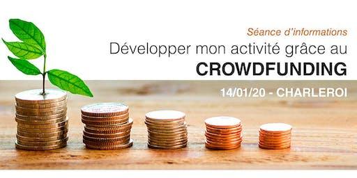 Développer mon activité grâce au crowdfunding ! Charleroi – 14/01/2020.