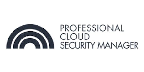 CCC-Professional Cloud Security Manager 3 Days Training in London tickets