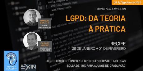 PE - LGPD: DA TEORIA À PRÁTICA - TURMA 5 bilhetes