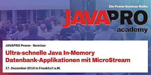 Ultra-schnelle Java In-Memory Datenbank-Applikationen mit MicroStream