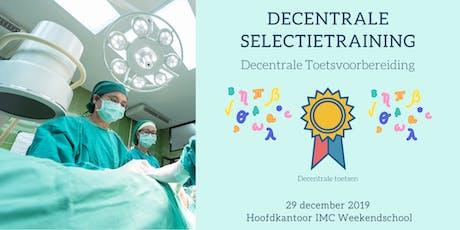 Decentrale Selectietraining: Decentrale Toetsvoorbereiding tickets