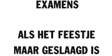 Examenfeestje  voor docenten tickets