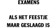 Examenfeestje  voor docenten