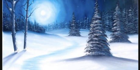 Winter Landscape Canvas Paint And Sip tickets