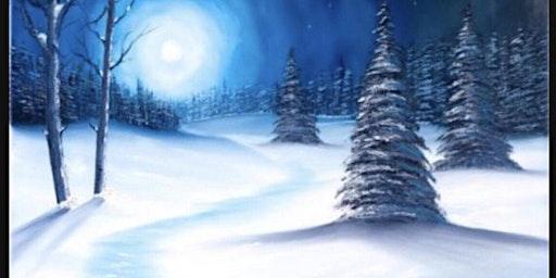 Winter Landscape Canvas Paint And Sip