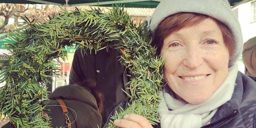 Al Mercato facciamo le coroncine natalizie con il floricoltore Gabriele!