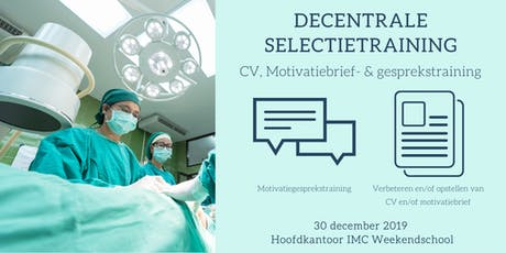 Decentrale Selectietraining: CV & Motivatietraining tickets