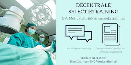 Decentrale Selectietraining: CV & Motivatietraining tickets