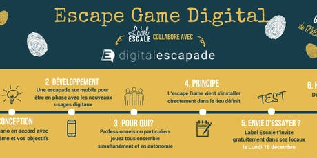 Escape Game Digital à Label Escale billets