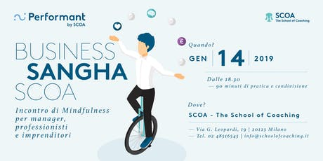 Business Sangha SCOA - Incontro di mindfulness per manager, professionisti tickets
